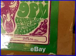 Rare 1966 Poster Pauley Ballroom Grateful Dead 1st Print Country Joe Berkley