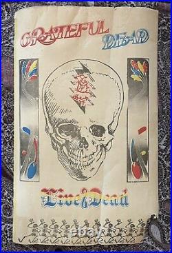 Rare! 1969 Grateful Dead Live/dead Album Promo Poster Counterculture Lsd Htf