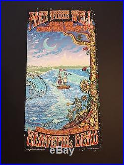Rare GRATEFUL DEAD GD50 FARE THEE WELL Chicago Concert Posters by Mike DuBois
