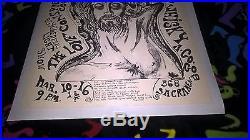 Rare Original 1967 Grateful Dead Whiskey a Go-Go Fillmore-Era Poster