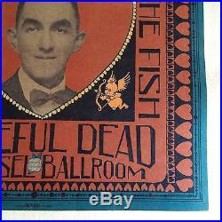 Rare Original 1968 Be Mine Grateful Dead/Country Joe Concert Poster
