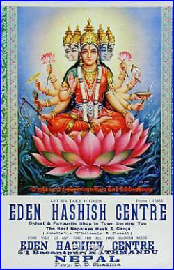 Rare Original Eden Hashish Centre Poster! Gayatri