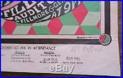 Rare Signed Early BG 7 Quicksilver Original Concert Poster