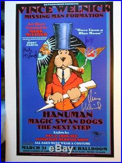 Rare-signed X 4-numbered-grateful Dead-vince Welnick-stanley Mouse-poster
