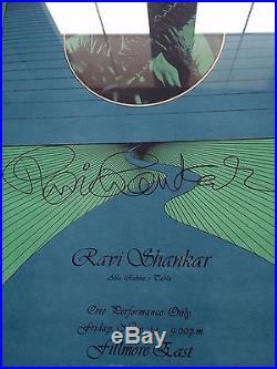 RaviShankarPoster-1stprinting1968signedbyperformer! Phish Pollock grateful dead