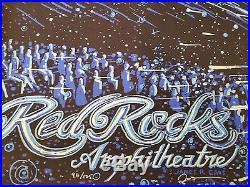 Red Rocks Poster James Eads GLOW IN DARK Jerry Garcia Grateful Dead 2017 Print +