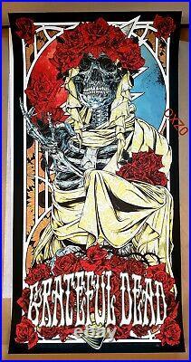 Rhys Cooper Grateful Dead Art Print Poster /300 Bertha Bottleneck AJ Masthay