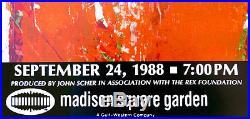 Robert RAUSCHENBERG Grateful Dead Rainforest Concert 1988 Original Poster