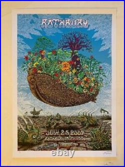 Rothbury Festival Concert Poster The Dead 2009 Emek S/N
