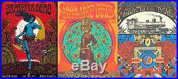 SET OF 3 Grateful Dead 2015 Fare Thee Well Santa Clara Concert Poster Print