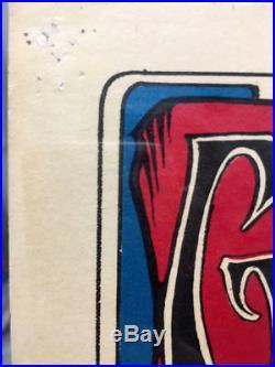 SIGNED 2nd print FD26 Grateful Dead poster STANLEY MOUSE 1966 bg AOR Avalon