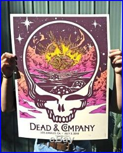 SIGNED Dead and & Company Dodger Los Angeles LA 7/5 2018 Print Poster AE #/30