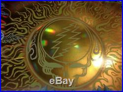 SIGNED Grateful Dead Fare Thee Well 2015 Gold Foil Hologram Poster