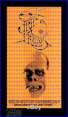 SIGNED Grateful Dead Janis Joplin 1967 TRIP OR FREAK AOR 2.183 Poster 8/250