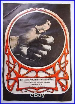 Sore Thumbjefferson Airplane, Grateful Dead Mar 15-17, 1968 Alton Kelley Poster