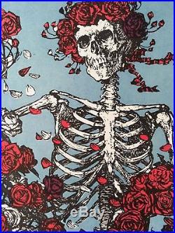 STANLEY MOUSE SIGNED FD26 Poster PP-5 Grateful Dead Avalon BG AOR skeleton roses