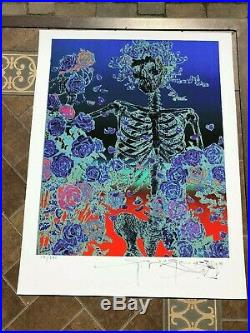 STANLEY MOUSE Signed SKELETON & ROSES GilCEE INVERTED NUMBERED 115/250 WITH COA