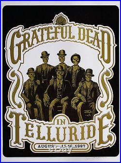 Scarce Grateful Dead 1987 Telluride Poster Artist Signed Original