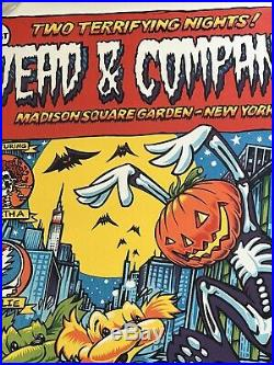 Signed Dead And Company HALLOWEEN Poster MSG NYC # 1427/14500 AJ Masthay