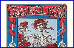 Signed FD-26 Grateful Dead Avalon Ballroom Skeleton Roses 1st Print Handbill