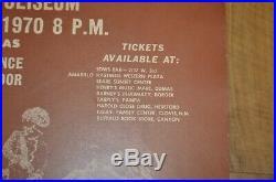 Sly & The Family Stone Concert Poster 1970 Amarillo Texas 24x18.5 RARE