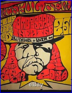 So Rare An Amazing 1967 Grateful canceled Washington DC Concert Poster