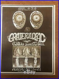 Sound Proof poster AOR 2.26 @ Avalon 1969 Grateful Dead, Aum, Burrito Bros