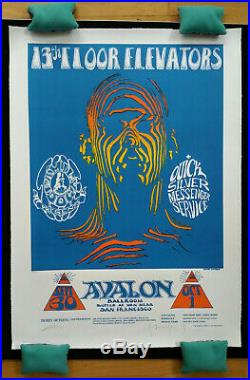 Stanley Mouse/ Alton Kelley SIGNED 13TH Floor Elevators Avalon Ballroom PRINT