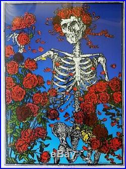 Stanley Mouse Hand-Printed & Signed Skeleton & Roses Serigraph Grateful Dead