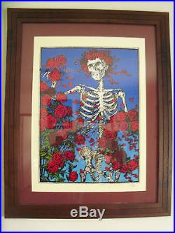 Stanley Mouse, Hand Signed Screen Print, Skeleton And Roses, Grateful Dead