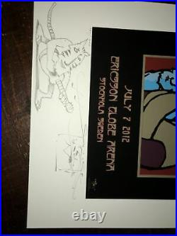 Stanley Mouse Pearl Jam Original Poster Not Emek COA Not Grateful Dead