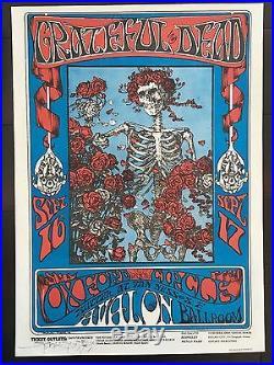 Stanley Mouse SIGNED FD26 Grateful Dead Poster FAMILY DOG Avalon BG FD aor 1966