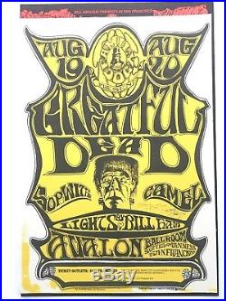 Stanley Mouse SIGNED Grateful Dead FD22 Poster 1966 Near Mint 1st print CGC bg