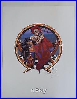 Stanley Mouse Signed 1988 Skeleton Portrait Grateful Dead