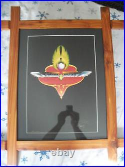 Stanley Mouse Signed Art # 109/500 Grateful Dead Phil Lesh Journey witho Frame
