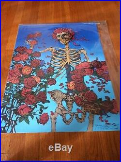 Stanley Mouse Signed, Birtha Skeleton, 18 x 24 litho print, numbered 241/450