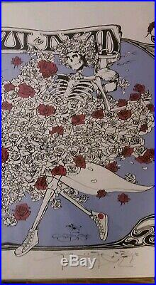 Stanley Mouse Signed Grateful Dead Converse Poster
