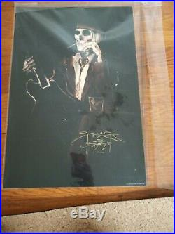 Stanley Mouse Signed, Whiskey and Cigarettes, 13 x 19 litho poster