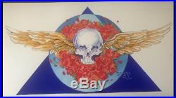 Stanley Mouse Watercolor Art Flying Skull