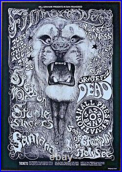 Steppenwolf Grateful Dead Santana1968 Concert Authorized Limited Edition Poster
