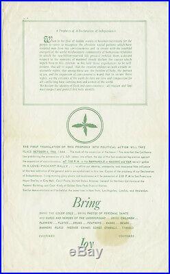 Super Rare! GRATEFUL DEAD JANIS JOPLIN Original 1966 LSD ACID Concert Poster