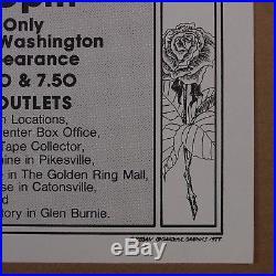 THE GRATEFUL DEAD 1977 Baltimore Civic Center Handbill, Poster ORIGINAL