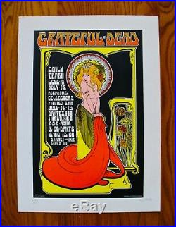 THE GRATEFUL DEAD-BOB MASSE Signed & Numbered Poster-Excellent Condition
