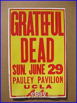 THE GRATEFUL DEAD Pauley Pavilion UCLA Cardboard CONCERT POSTER Jerry Garcia