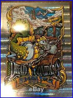 TURTLE SHELL FOIL Dead & Company AJ Masthay 2017 Summer Tour Poster Chicago