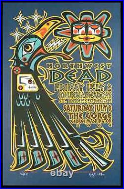 The Dead 2004 Northwest Tour Poster The Gorge Original Signed Silkscreen Ga