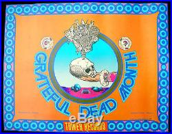 The GRATEFUL DEAD Month 1970's Tower Records PROMO POSTER Frank Carson PSYCH