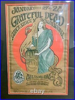 The Grateful Dead 1967 Avalon Ballroom Concert Poster Family Dog Mouse & Kelly