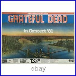The Grateful Dead 1981 Rüsselsheim Concert Poster (German)