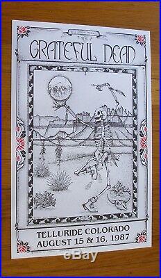 The Grateful Dead 1987 Jack Rajca Dancing Skeleton Poster Telluride Colorado